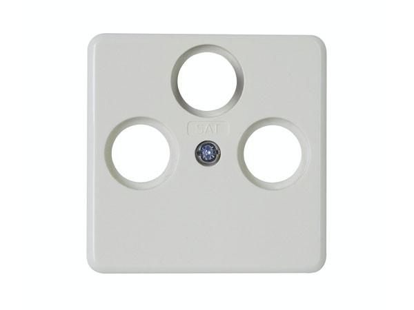 Abdeckung für Antennensteckdose TV/RF/SAT weiß / Serie Milano - Kopp (357813184)