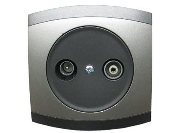 Antennen-Steckdose 2 Ausgänge Serie Modena - REV-Ritter (00852108)