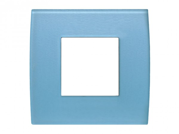 TEM Serie Modul Plus PURE Glas Abdeckrahmen 2M Eisblau (OP20GB-U)