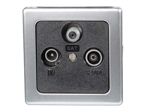 Antennensteckdose TV/RF/SAT Serie Vision stahl - Kopp (915920086)