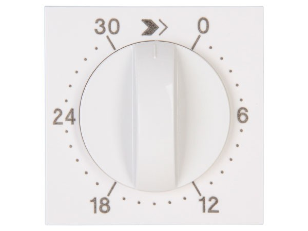 Abdeckung für mechanische Zeitschaltuhr 30min Objekt HK 07 rein-weiß Kopp (313429303)