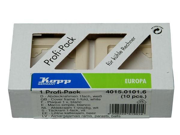 Profi-Pack: 10 x Abdeckrahmen 1-fach Serie Europa creme-weiß Kopp (401501016)