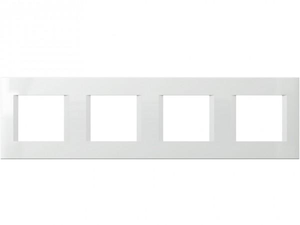 TEM Serie Modul Plus LINE Abdeckrahmen 4x2M polar weiß (OL28PW-U)