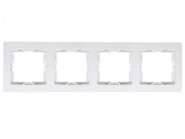 Abdeckrahmen für senkrechte und waagerechte Installation 4-fach, arktis-weiß, HK05 / Paris arktis we