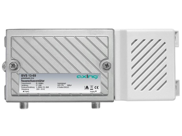 Axing BVS 13-69 Hausanschlussverstärker (30dB, 1006MHz, 98dBµV) mit aktivem Rückkanal 5-65 MHz