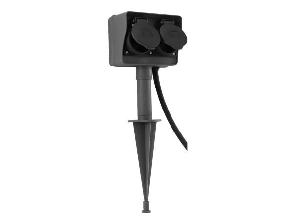 RITOS LEDs Garden 2-fach Steckdose mit Erdspieß (0087500512)
