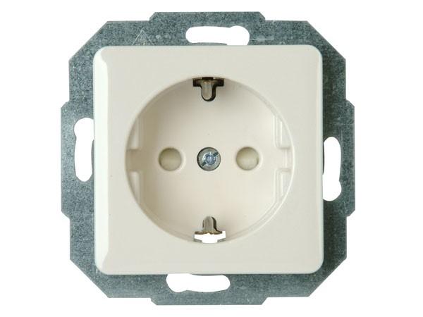 Schutzkontakt-Steckdose mit erhöhtem Berührungsschutz weiß / Serie Milano - Kopp (915013085)