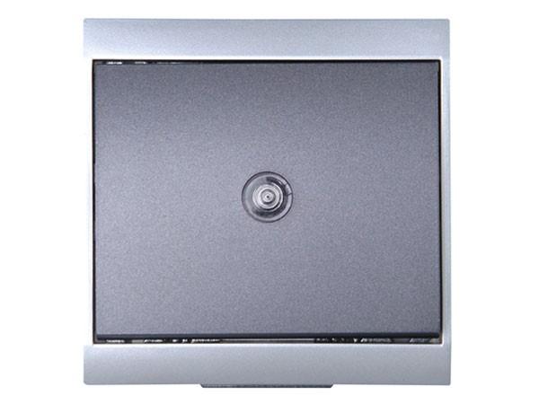 Universalschalter (A/W) beleuchtet silber-anthrazit Serie Malta - Kopp (620665083)