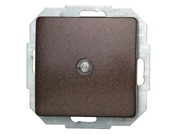 Universalschalter (A/W) beleuchtbar Serie Paris palisander-braun - Kopp (650676082)