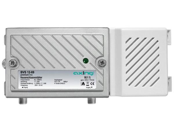 Axing BVS 12-69 Hausanschlussverstärker 20 dB, Rückkanal aktiv, für Kabelfernsehen digital (1006 MHz