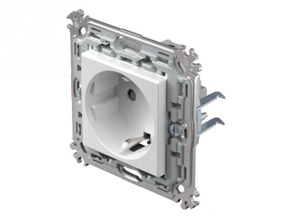 TEM Serie Modul Plus Schutzkontakt-Steckdose polar weiß (CV10PWXO-D)