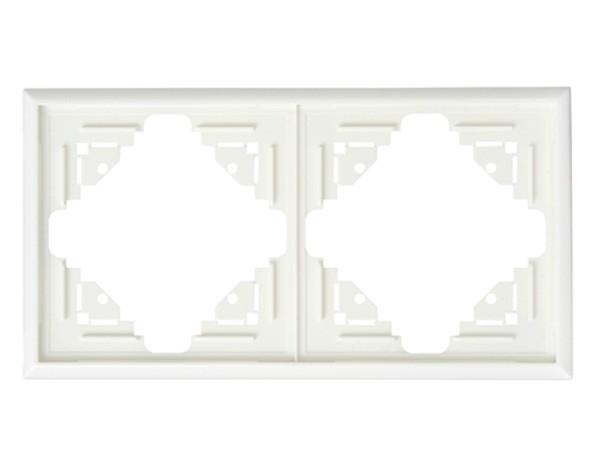 Abdeckrahmen 2-fach weiß Serie Malta - Kopp (309201067)