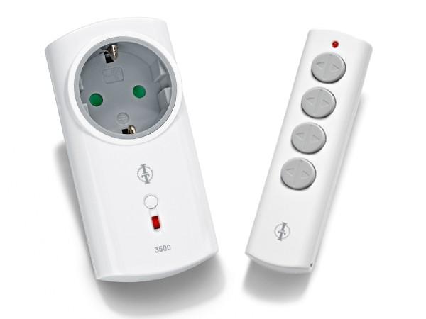 Intertechno IT-3500L  Funk-Zwischenstecker Set im Soft Design