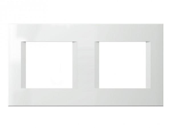 TEM Serie Modul Plus LINE Abdeckrahmen 2x2M polar weiß (OL24PW-U)