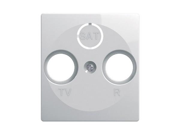 Abdeckung für Antennensteckdose TV/RF/SAT weiss-glanz Serie ekonomik (PE10PW)