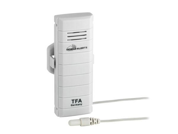TFA 30.3301.02 WeatherHub Temperatur-Sender mit wasserfestem Kabelfühler passend für WeatherHub-Gate