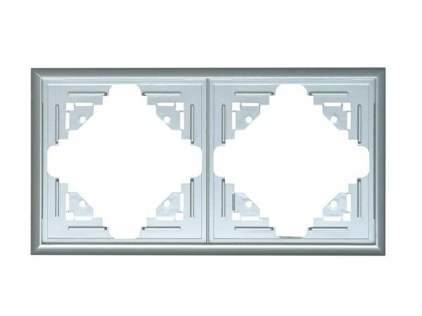 Abdeckrahmen 2-fach silber Serie Malta - Kopp (309220060)