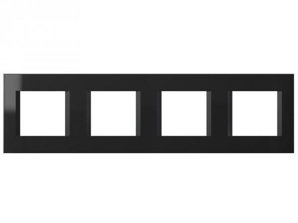 TEM Serie Modul Plus LINE Abdeckrahmen 4x2M schwarz-glanz (OL28NB-U)