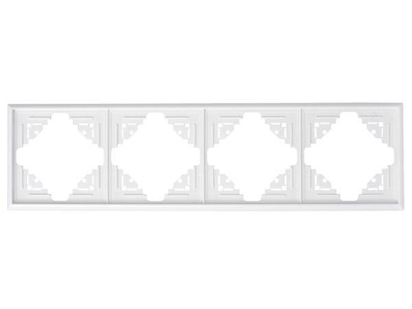 Abdeckrahmen 4-fach arktis-weiß Serie Malta - Kopp (309413062)
