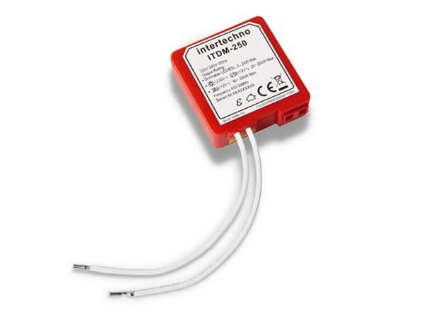 Intertechno ITDM-250 LED Funk-Universaldimmer (nur für lehrende Sender)