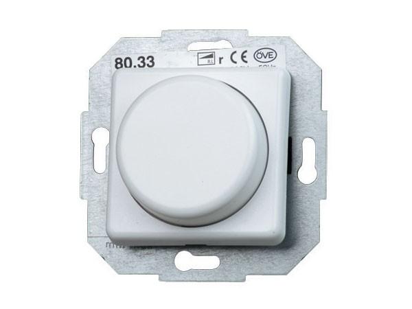 Elektronischer Dimmer mit Wippen-Wechselschalter (Phasenabschnitt) Serie Europa arktis-weiß Kopp