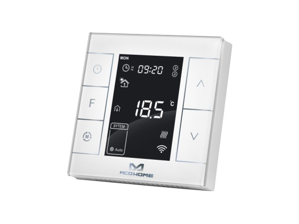 POPP Heizkörperthermostat weiß Smart Thermostat Heizung Heizungssteuerung Z-Wave