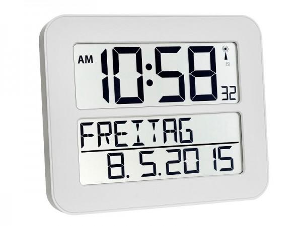TFA 60.4512.02 Time Line Max Funkuhr weiß