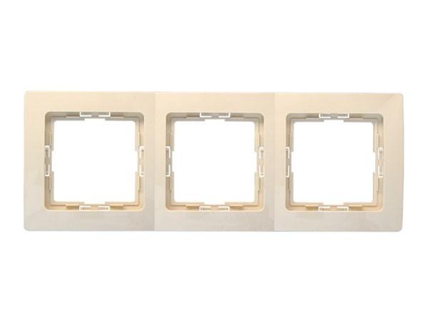 Abdeckrahmen 3-fach Serie Paris creme-weiß - Kopp (308601082)