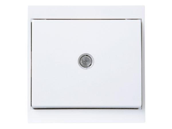 Universalschalter (Aus- und Wechselschalter) beleuchtet arktis-weiß Serie Malta - Kopp (620671086)