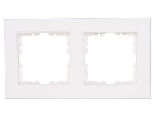 Abdeckrahmen 2-fach Objekt HK 07 rein-weiß Kopp (402629005)