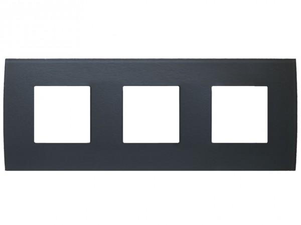 TEM Serie Modul Plus PURE Glas Abdeckrahmen 3x2M Eisgrau (OP26GY-U)