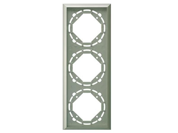 REV Ritter Düwi TerraLuxe 3-fach Rahmen, platin (01285)
