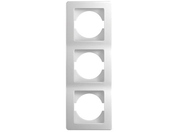 3-Fachrahmen vertikal weiß-glanz Serie ekonomik (OE31PW)