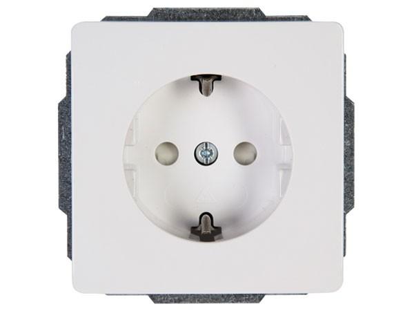 Schutzkontakt-Steckdose mit erhöhtem Berührungsschutz rein-weiß Serie Venedig - Kopp (924029084)