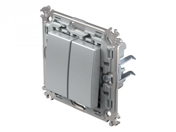 TEM Serie Modul Plus Serienschalter silber (CS50ESXO-D)