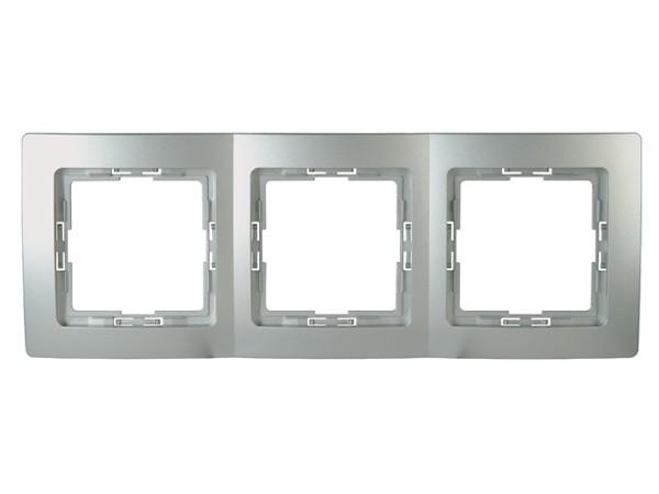 Abdeckrahmen 3-fach Serie Paris silber - Kopp (308620085)