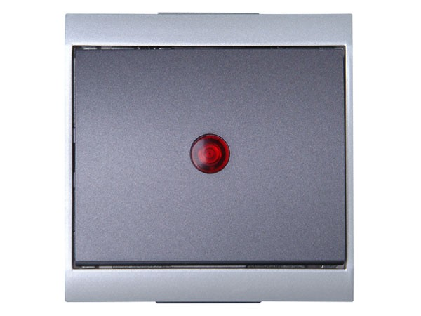Kontrollschalter (A/W) beleuchtet silber-anthrazit Serie Malta - Kopp (621665084)