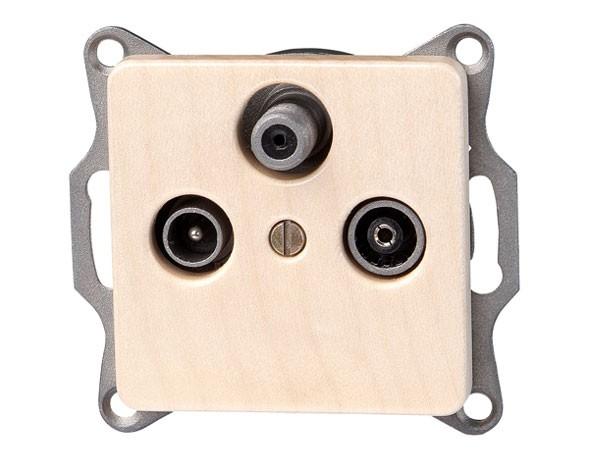 Antennensteckdose TV/RF/SAT Serie Milano Echtholz-Ahorn - Kopp (917139080)