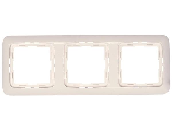 Abdeckrahmen 3-fach Serie Rivo rein-weiß Kopp (404317085)