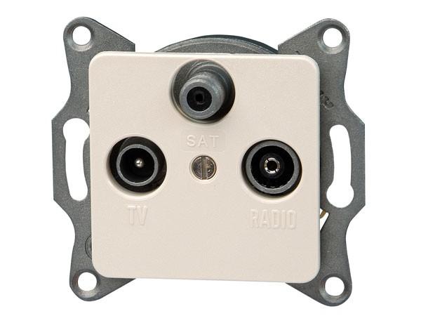 Antennensteckdose TV/RF/SAT Serie Europa creme-weiß Kopp (915801080)