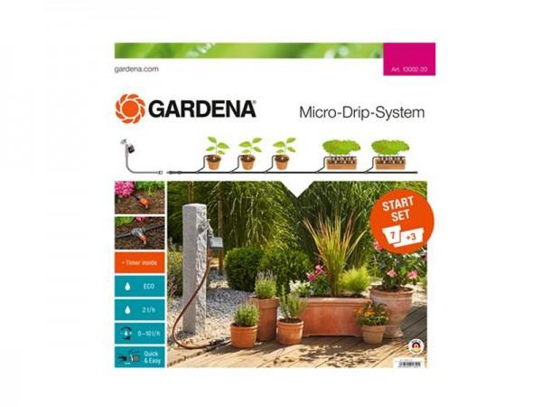 Gardena Micro-Drip-System Start-Set Pflanzentöpfe M automatic (13002)