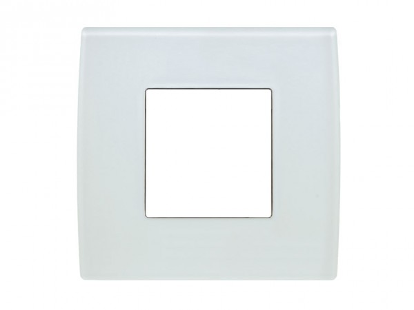 TEM Serie Modul Plus PURE Glas Abdeckrahmen 2M Eisweiß (OP20GW-U)