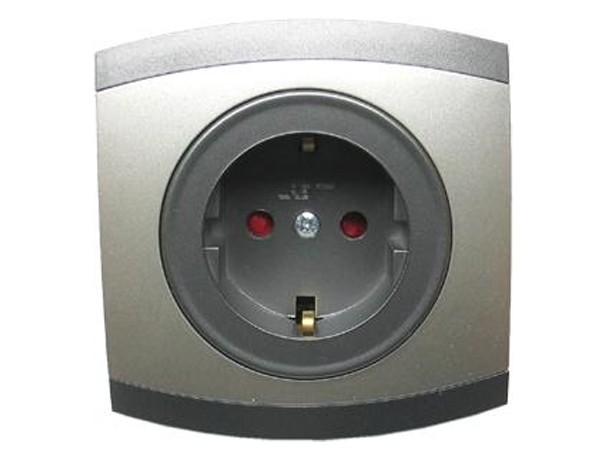 Schutzkontaktsteckdose mit Kinderschutz Serie Modena - REV-Ritter (00850208)