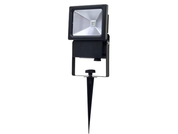 RITOS LEDs Garden LED Strahler mit Erdspieß 10W schwarz (0087412512)