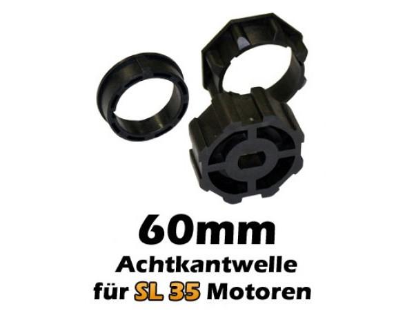 Jarolift SL35 Motoradapter für 60 mm Achtkantwelle