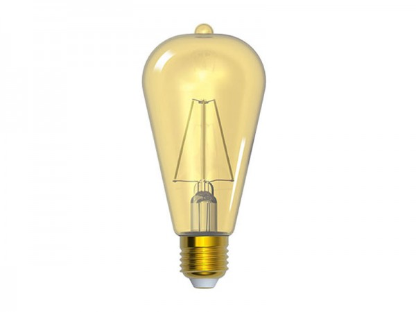 I-Light LED-Filament Kolben Gold E27 4W 2200K warmweiß (LL-ST642704A)