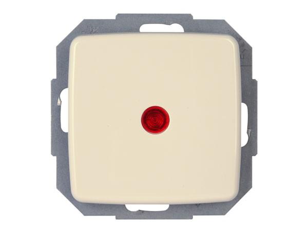 Kontrollschalter mit Linse und eingesetzter Glimmlampe Serie Rivo creme-weiß Kopp (586667080)
