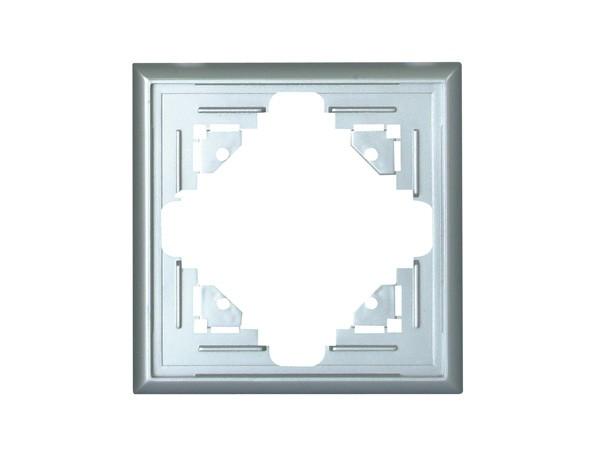 Abdeckrahmen 1-fach silber Serie Malta - Kopp (309120067)