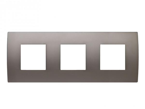 TEM Serie Modul Plus PURE Abdeckrahmen 3x2M satin-nickel (OP26MN-U)