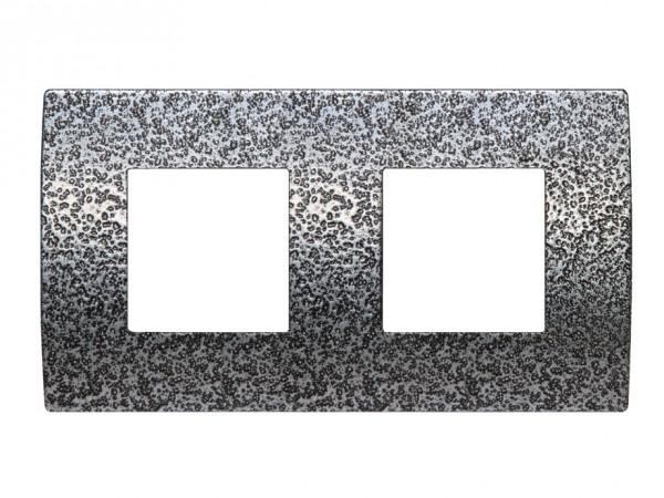 TEM Serie Modul Plus PURE Abdeckrahmen 2x2M geschmiedeter Stahl (OP24MH-U)